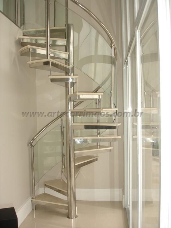 Corrimão de vidro Curvo transparente