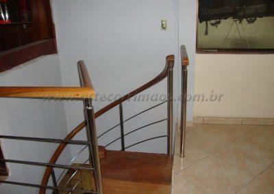 Fechando superior escada caracol -