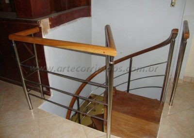 Fechando superior escada caracol