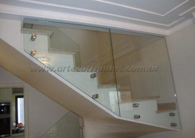 Guarda Corpo portão de inox vidro 6+6 laminado e temperado
