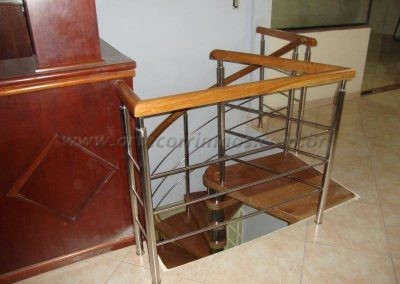 Guarda corpo mezanino escada Caracol