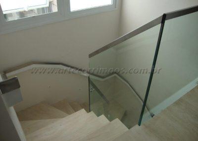 Pefil de inox acabamento do vidro