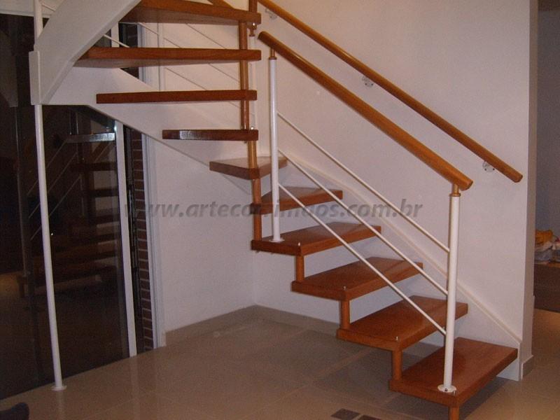 Escada Corrimao Madeira