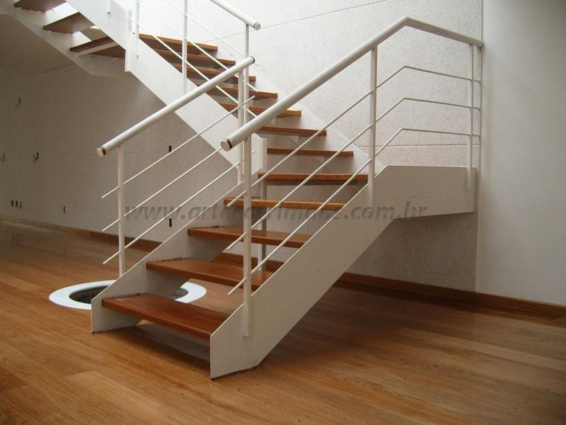 Preferência Escada em Ferro e Madeira - Arte Corrimãos e Escadas AN66
