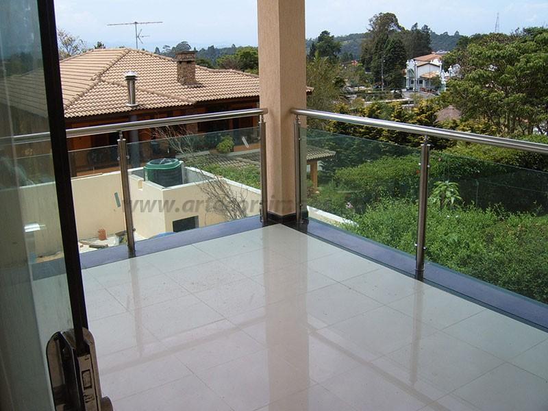 guarda corpo vidro e inox residencial