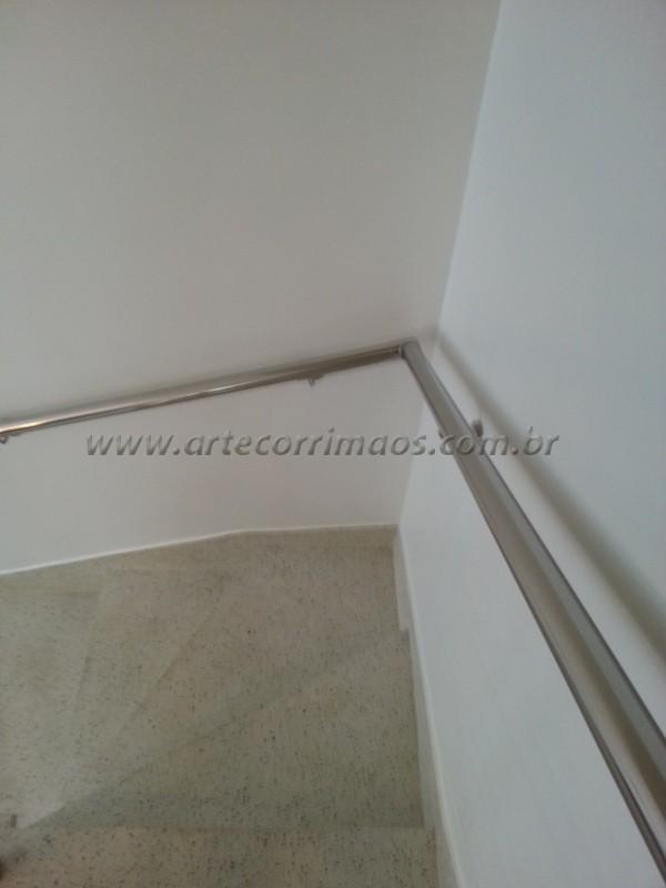 Corrimão de parede inox escovado