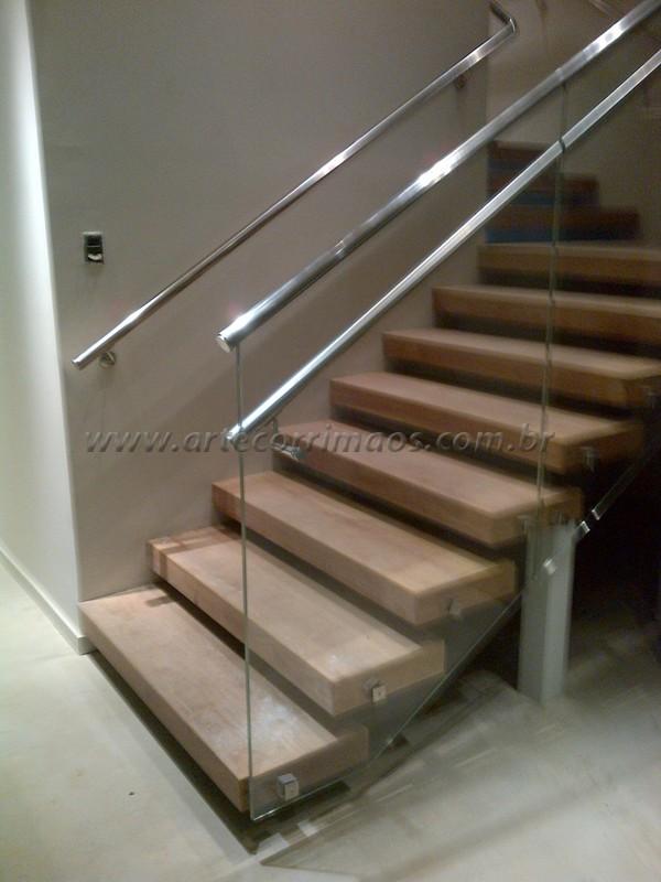 Super Corrimão em Vidro - Arte Corrimãos e Escadas XK25