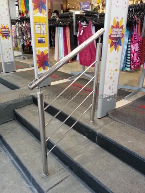 Corrimao aço inox escada pequena