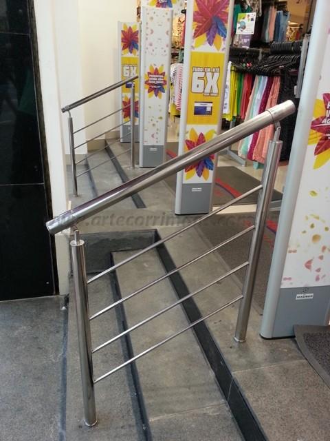 Corrimao de aço inox escada