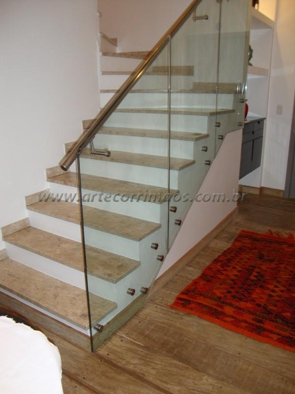 Excepcional Corrimão em Vidro - Arte Corrimãos e Escadas BY24
