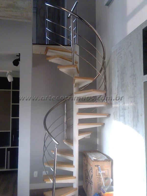 Guarda corpo Curvo escada caracol K