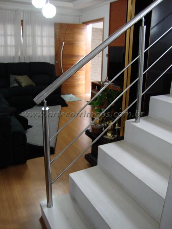 corrimãos em inox escada casa