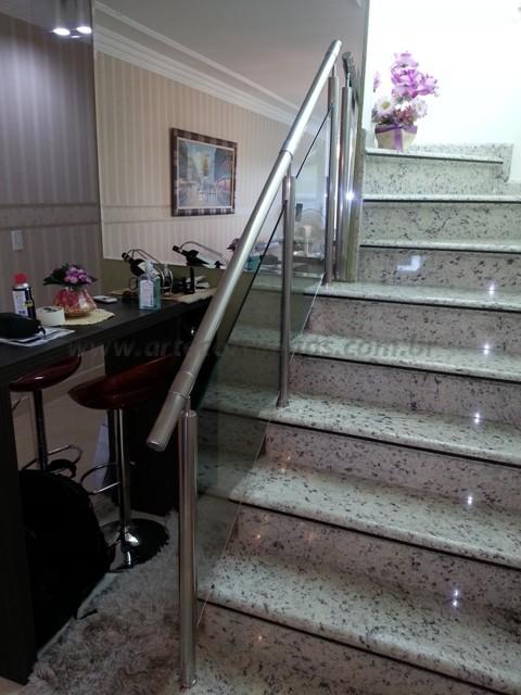 corrimaos para escada em aço inox