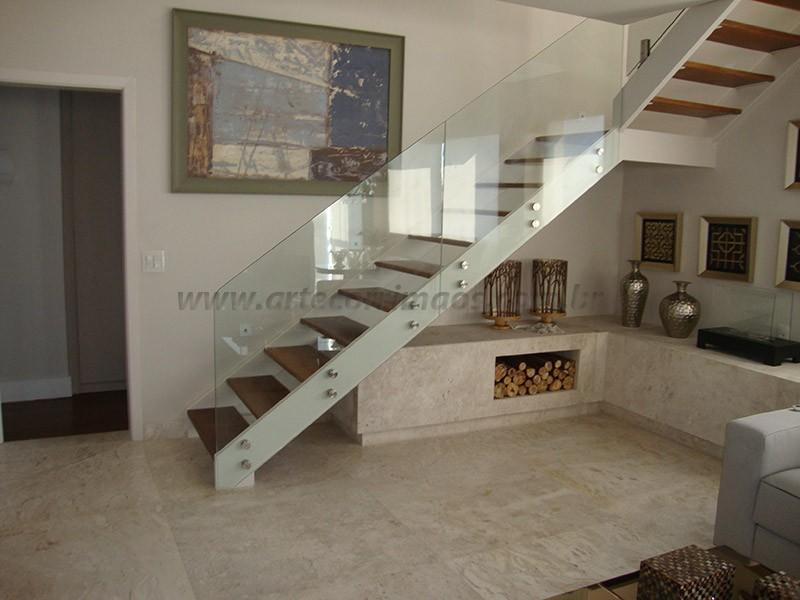 corrimaos vidro na escada