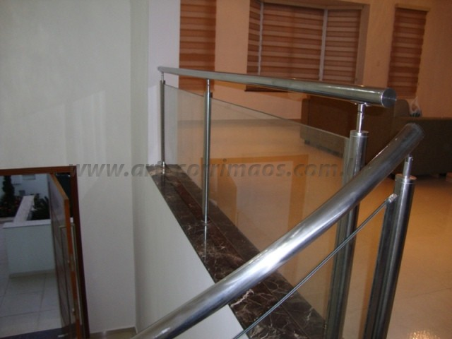 corrimao escada guarda corpo de aço inox