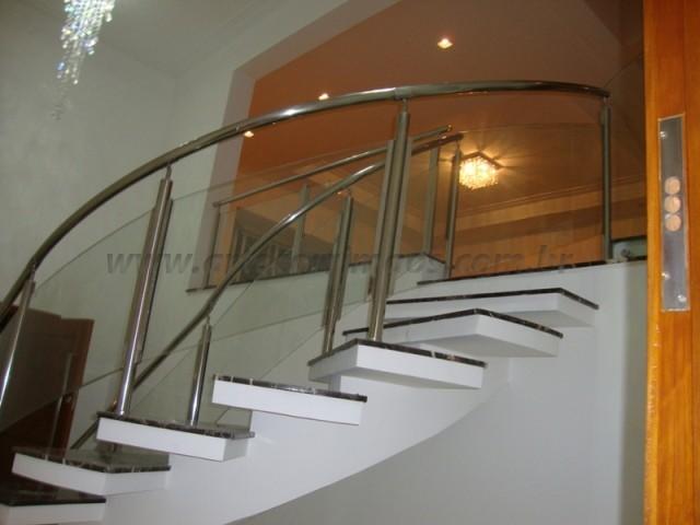 corrimao para escada aço inox