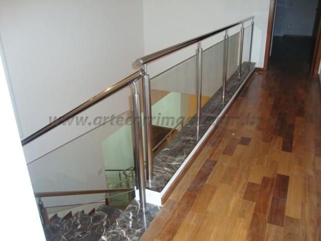 Corrimão em Aço Inox vidro (4)