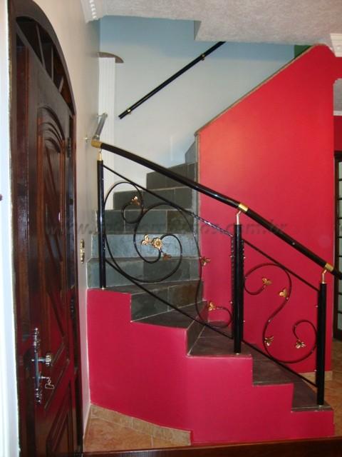 corrimao para escada preto