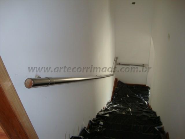 corrimaos escada em aço inox