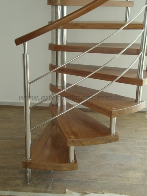 Escadas Caracol Escada Caracol Madeira e