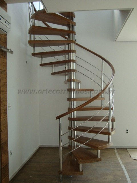 escadas curva caracol