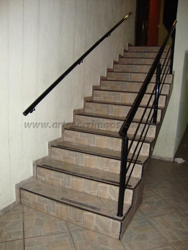 corrimão de escada ferro preto
