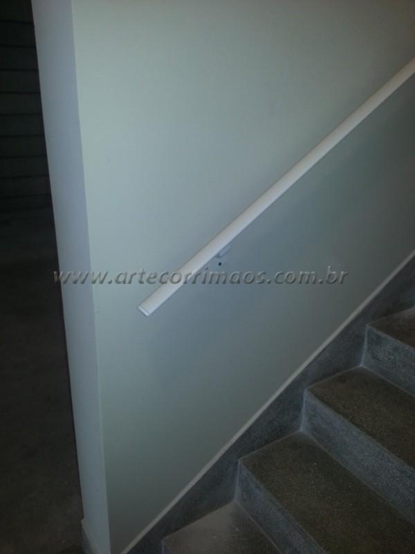 corrimãos de Alumínio escada branco fixo na parede