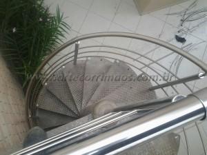 Guarda Corpo INOX para escada caracol