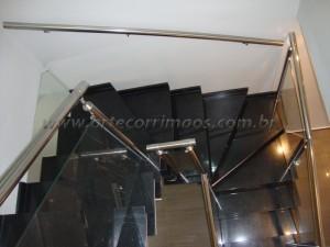 Guarda Corpo de inox polido vidro de 8 mm temperado
