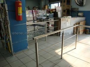 Guarda Corpo em Inox para Lojas
