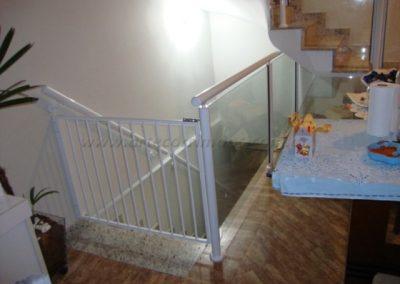 Portão de Aluminio branco