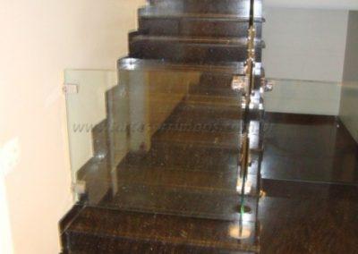 Portão de escada em vidro