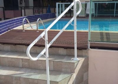 Guarda Corpo Duas alturas 92 e 70 cm escada piscina