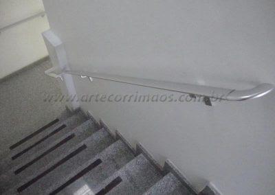 Corrimão de parede aluminio chato
