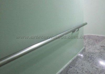 Corrimão de parede inox tubo de 1 12´´