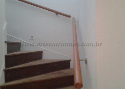 Corrimão de parede - Madeira redondo