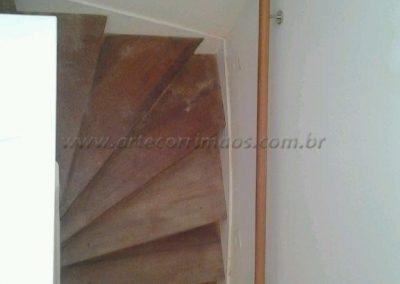 Corrimão de parede - Madeira redondo interno