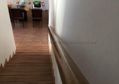 Corrimão de parede - Madeira rustico