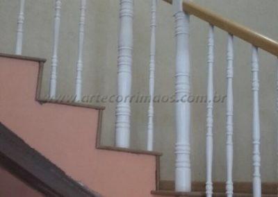 guarda corpo escada balaustre madeira