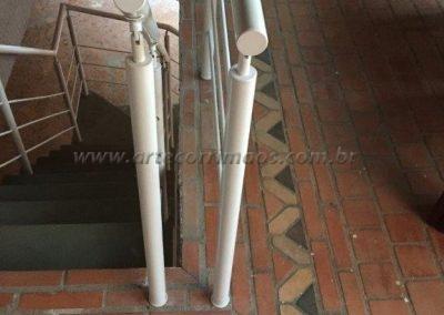 Guarda corpo - Aluminio branco