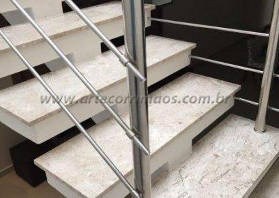 Guarda corpo - Inox 3 barras redonda ou quadrada