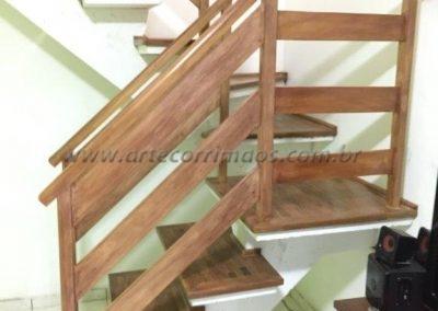 Guarda corpo de escada Madeira - Faixa