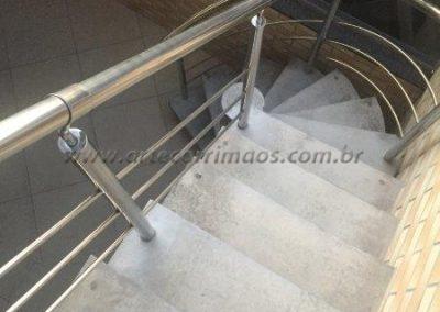 Guarda corpo de escada em Inox 3 Barrinhas
