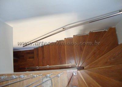Guarda corpo em Inox 3 barrinhas para escada