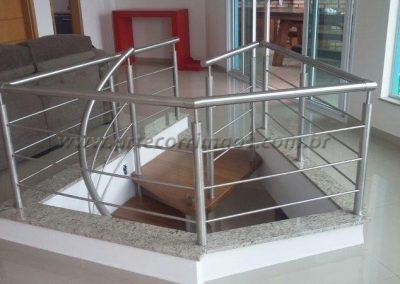 Guarda corpo escada caracol - Inox 304