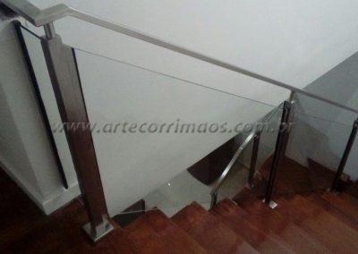 Guarda corpo inox 304 coluna quadrada vidro corrimão ótimo preço m2