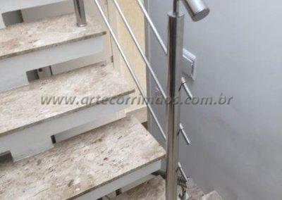 Guarda corpo para escada Inox 3 barrinhas