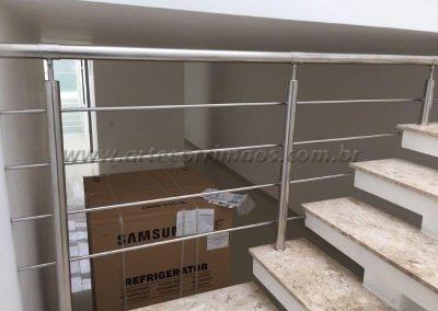 Guarda corpo para escada Inox 4 barrinhas
