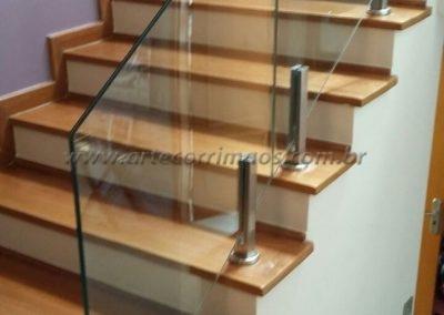 Guarda corpo - vidro torre de inox para vidro temperado
