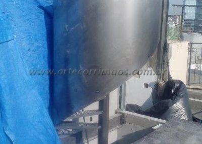 escada caracol de ferro corrimão curvo de chapa ferro